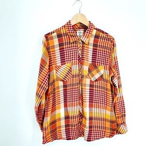 DICKIES Y2k western plaid button down flannel